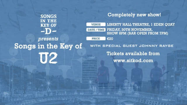Buy tickets for Songs in the Key of U2